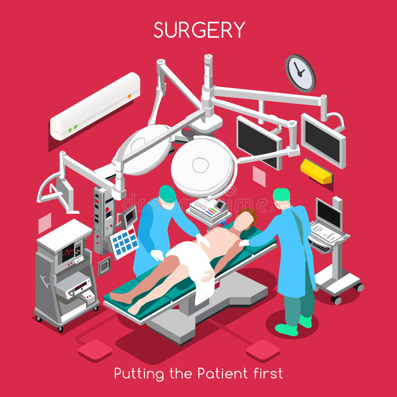 Ospedale 06 persone isometriche illustrazione di stock