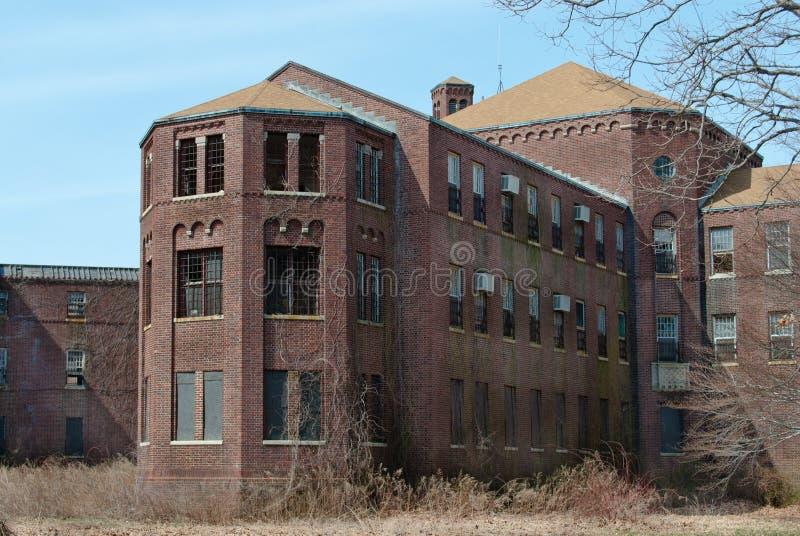 Ospedale psichiatrico abbandonato fotografia stock libera da diritti