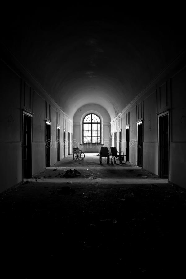 Ospedale psichiatrico insano fotografie stock