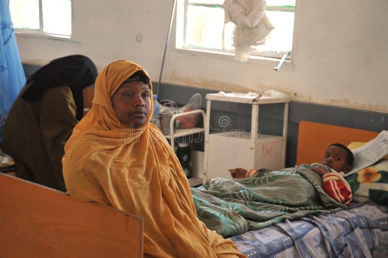 Ospedale pubblico nella città di Borama immagini stock