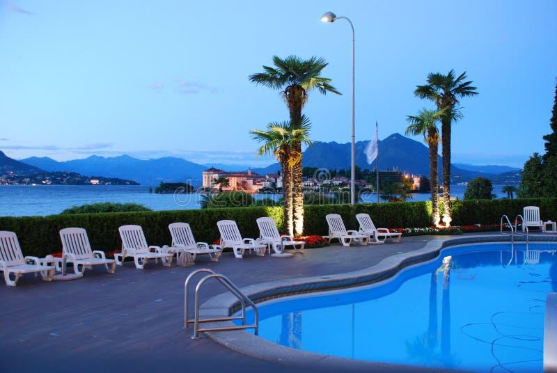 Ospitalità da Lake Maggiore, Italia fotografia stock libera da diritti