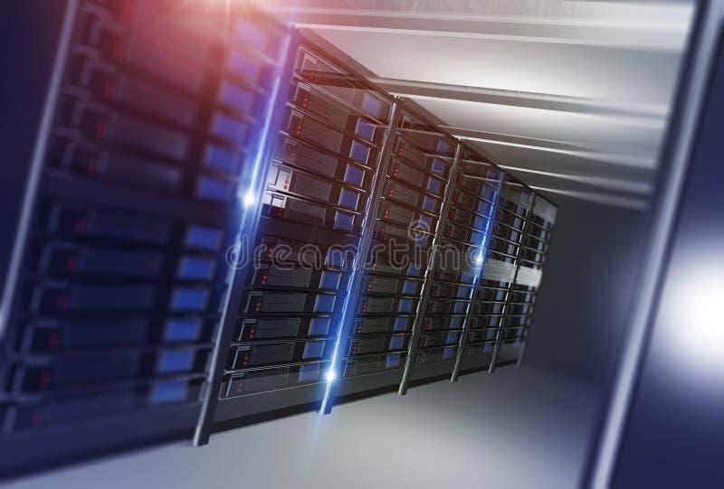 Ospitalità del concetto di centro dati illustrazione di stock