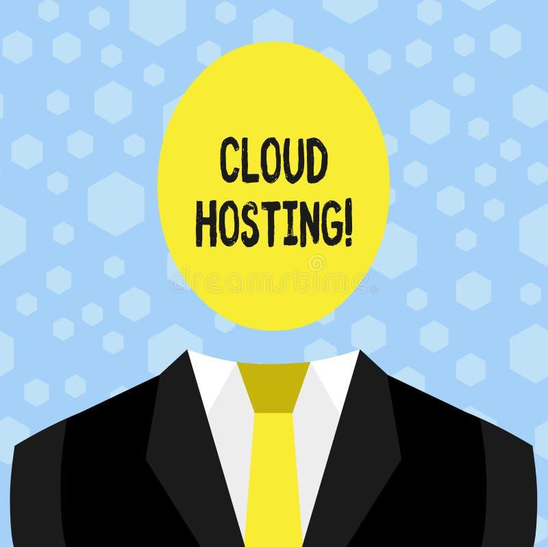Ospitalità della nuvola di rappresentazione del segno del testo Foto concettuale l'alternativa a ospitare i siti Web sui singoli  royalty illustrazione gratis