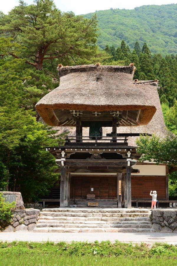 Ospite al museo Nagase-KE Il villaggio storico di Shirakawa-va Prefettura di Gifu Chubu japan fotografia stock
