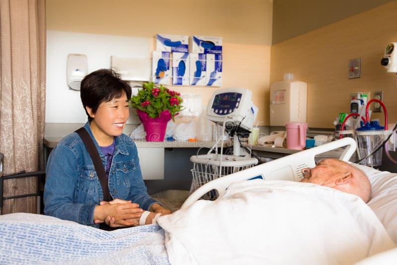 Ospite del paziente ricoverato fotografie stock