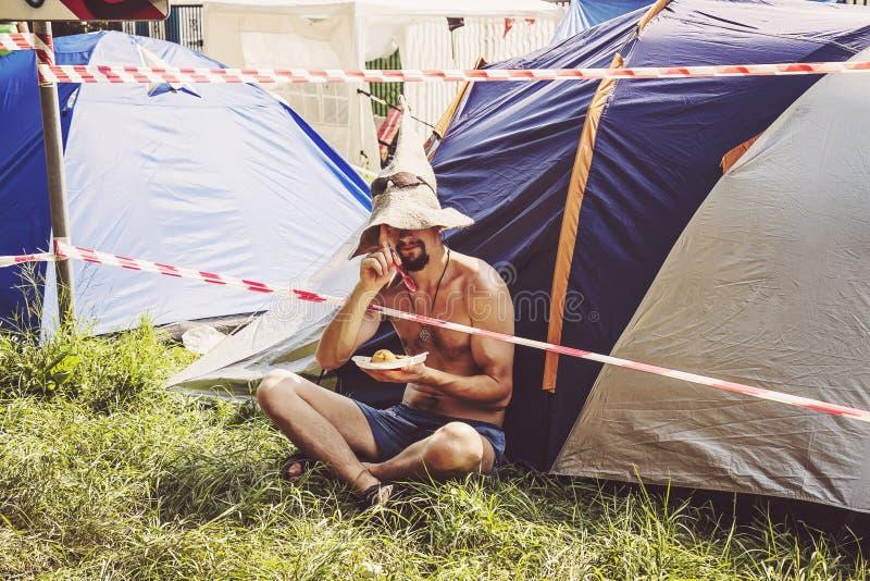 Ospite di festival rock di Woodstock Polonia immagine stock