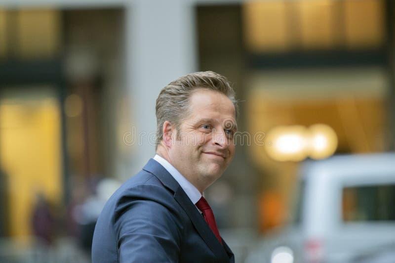 Ospiti alla ricezione dei nuovi anni dal re Of The Netherlands Hugo De Jonge 2019 immagini stock