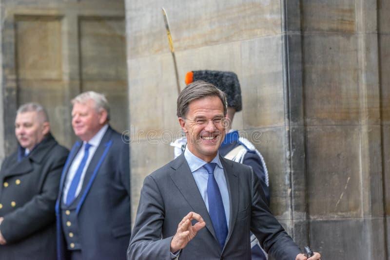 Ospiti alla ricezione dei nuovi anni dal re Of The Netherlands Mark Rutte 2019 immagini stock