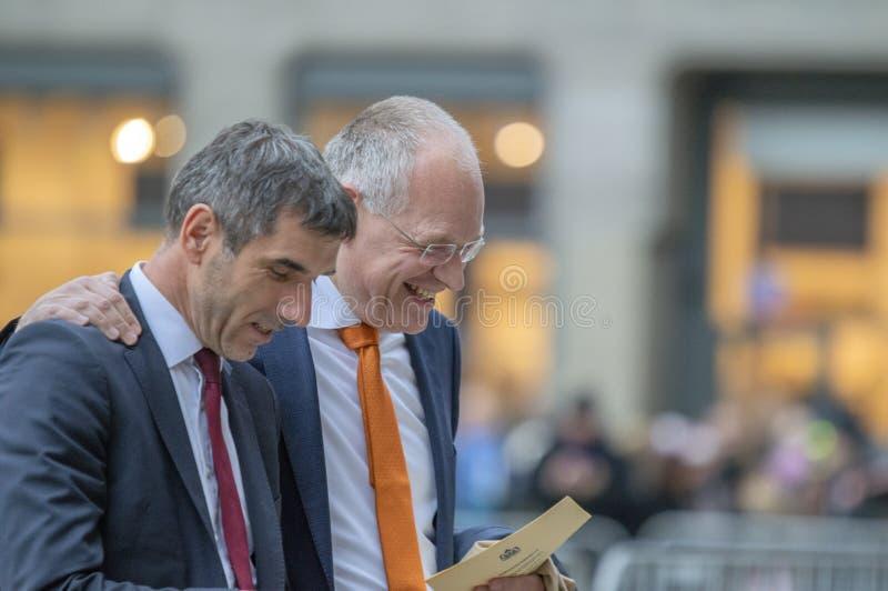 Ospiti alla ricezione dei nuovi anni dal re Of The Netherlands Paul Blokhuis 2019 fotografia stock libera da diritti