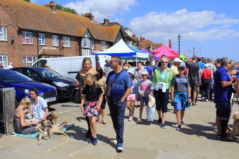 Ospiti della corsa della sciabica di Folkestone BRITANNICI fotografia stock