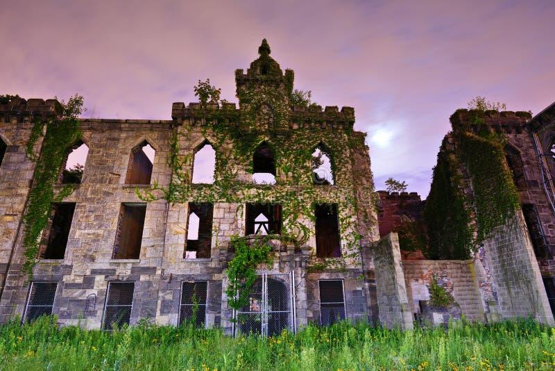 Ospowe szpital ruiny obrazy royalty free