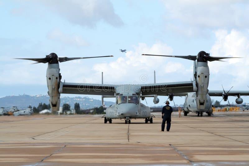 Osprey dos fuzileiros navais MV-22 foto de stock