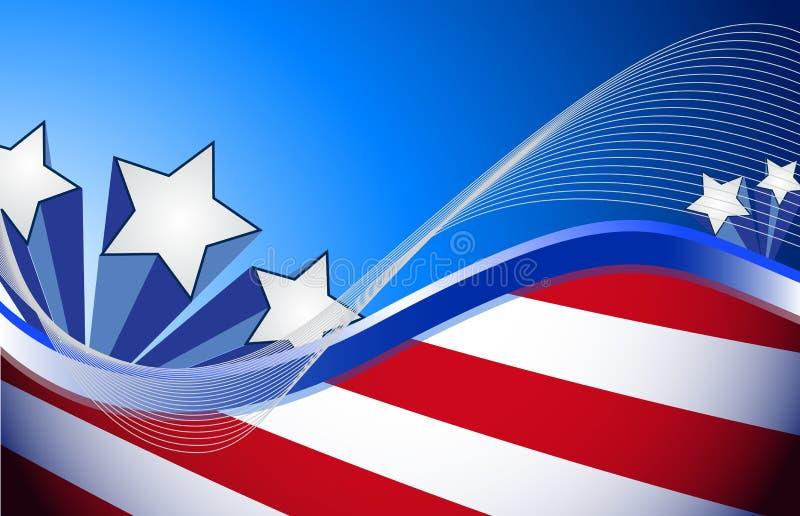 Oss patriotisk röd vit- och blåttillustration stock illustrationer