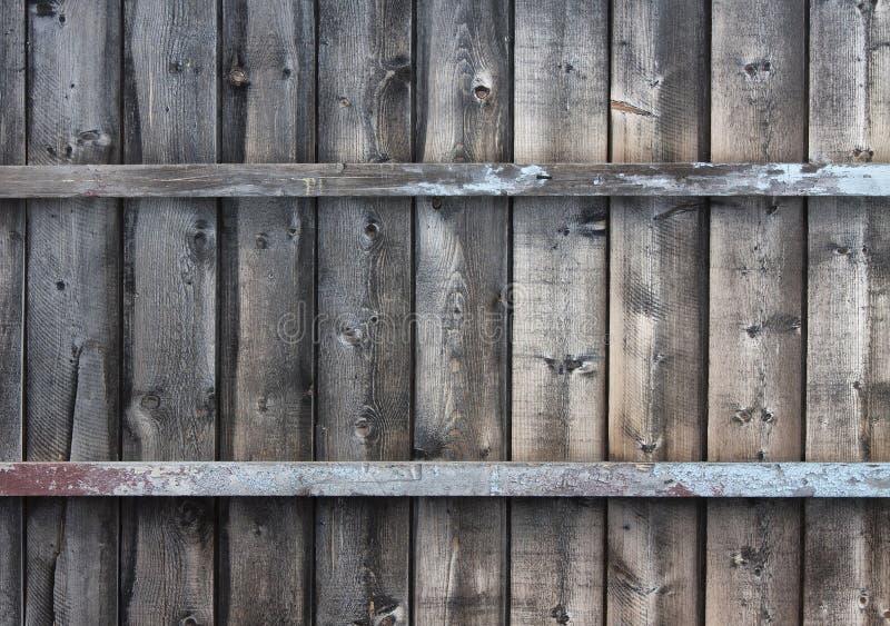 Ossatura muraria di legno stagionata fotografia stock