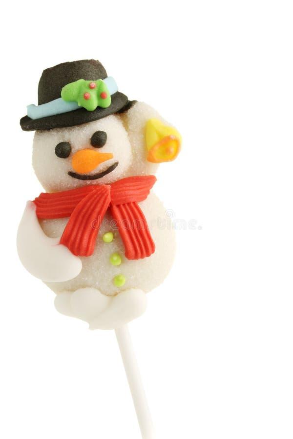 Ossequio del pupazzo di neve. fotografie stock