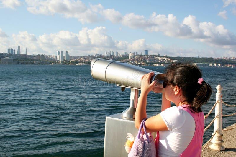Osservando a Costantinopoli immagine stock libera da diritti