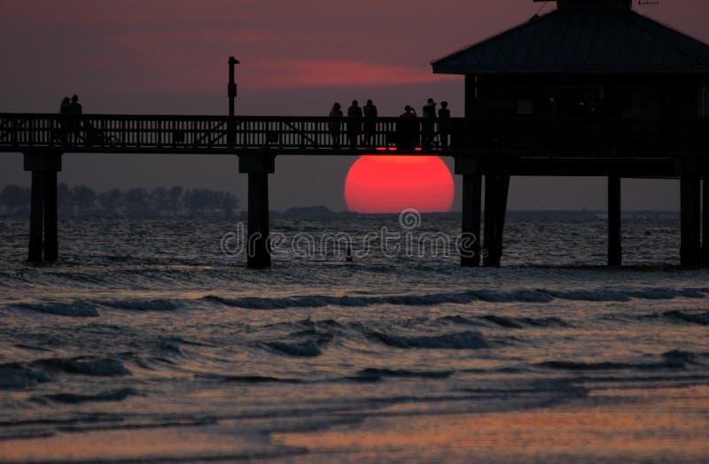 Osservatori di tramonto immagine stock libera da diritti