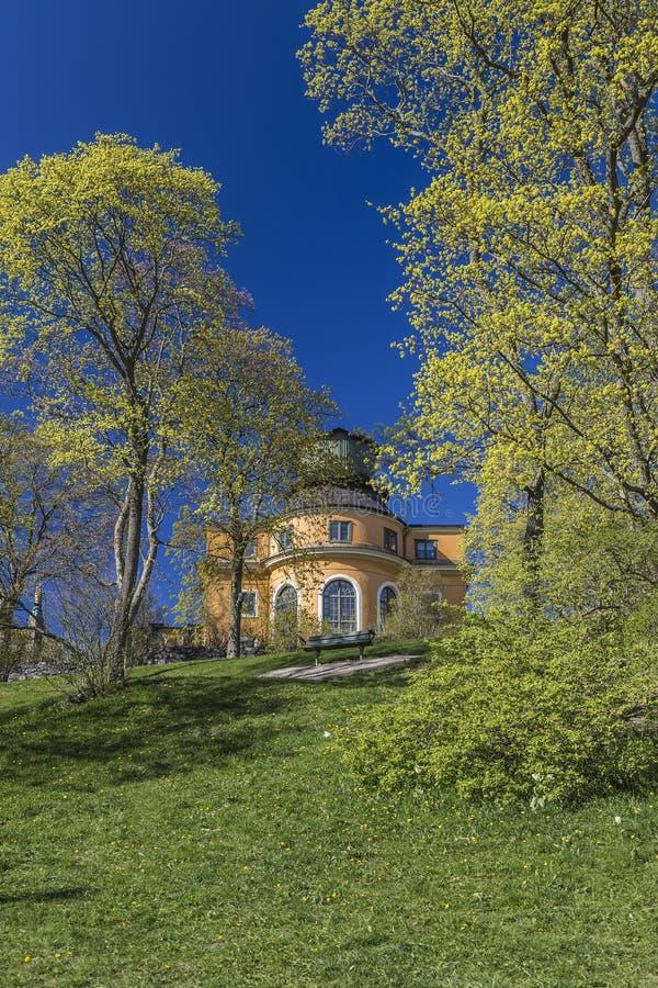 Osservatorio astronomico di Stoccolma fotografia stock libera da diritti