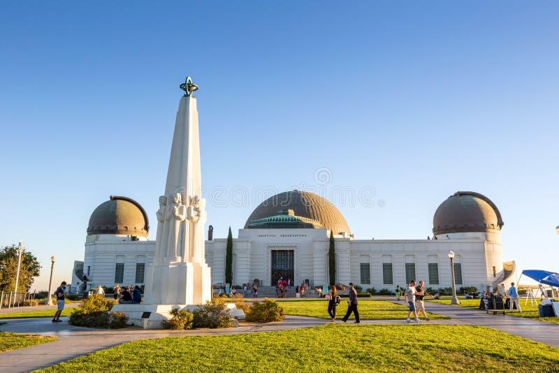 Osservatorio del Griffith a Los Angeles fotografia stock libera da diritti