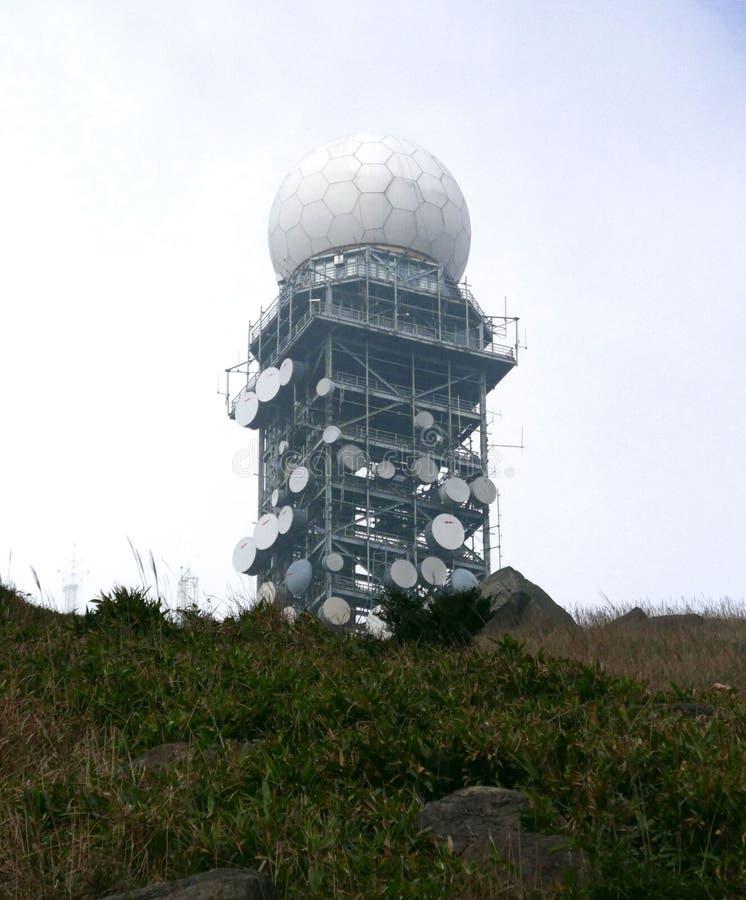 Osservatorio del radar di tempo fotografia stock libera da diritti
