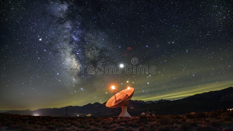 Osservatorio della radio dello spazio profondo fotografie stock