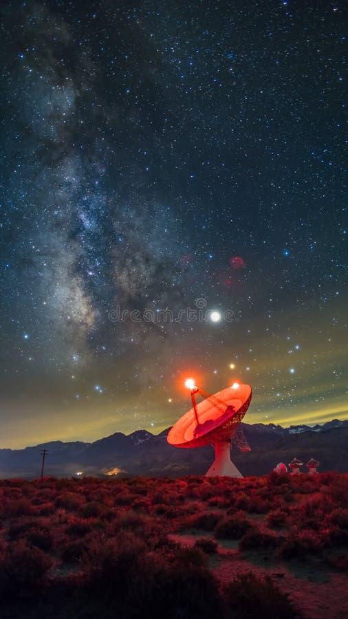 Osservatorio della radio dello spazio profondo immagine stock