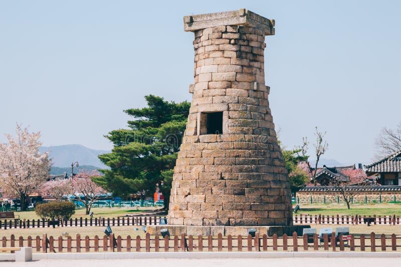 Osservatorio di Cheomseongdae in Gyeongju, Corea immagini stock