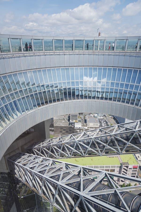 Osservatorio di galleggiamento del giardino della costruzione del cielo di Umeda immagini stock