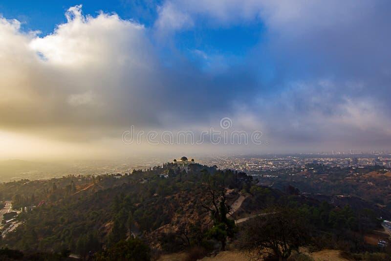 Osservatorio di Griffith Park, Los Angeles, California, S.U.A. fotografie stock libere da diritti