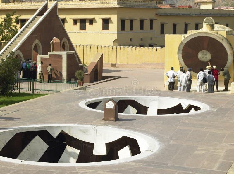 Osservatorio di Jantar Mantar - Jaipur - India fotografie stock