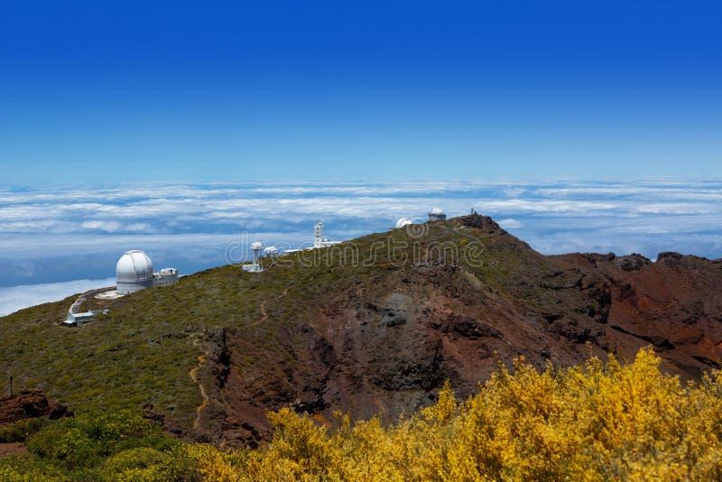 Osservatorio di Palma Roque de Muchachos ORM della La immagine stock