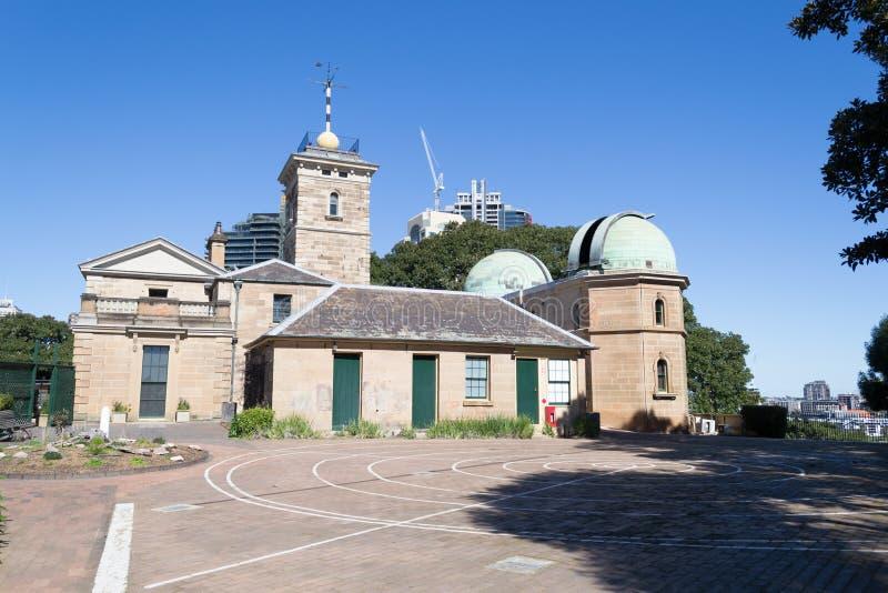 Osservatorio di Sydney sopra una collina fotografie stock libere da diritti