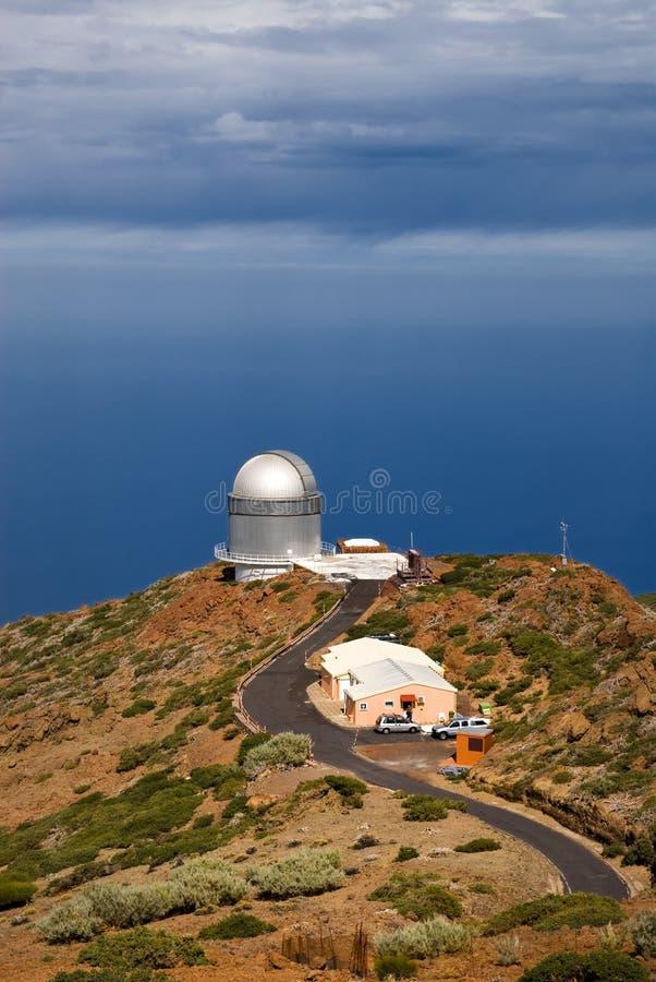 Osservatorio in La Palma fotografia stock libera da diritti