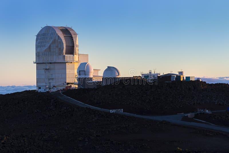 Osservatorio Maui Hawai U.S.A. di Haleakala fotografie stock libere da diritti