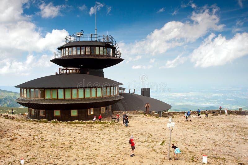 Osservatorio meteorologico di Sniezka fotografia stock