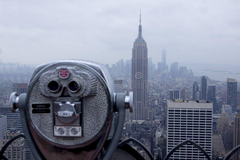 Osservazione dell'orizzonte di New York fotografia stock