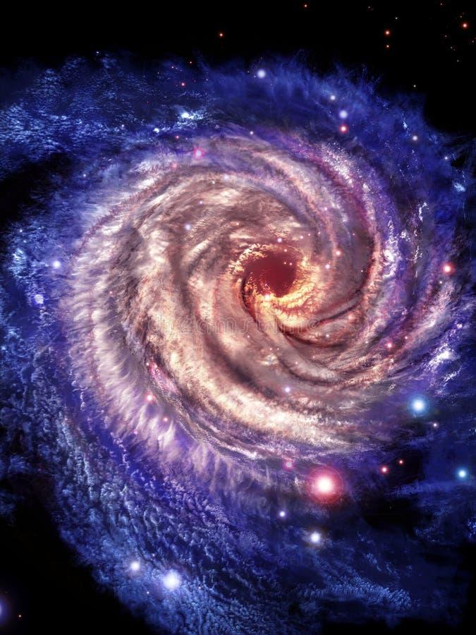 Osservi alle galassie concentrare royalty illustrazione gratis