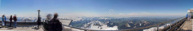 osservi definiti della Svizzera della stazione della montagna di saentis dall'alto fotografia stock libera da diritti