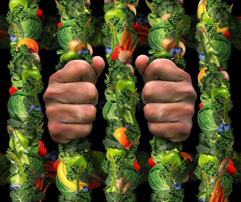 Ossessione sana di cibo illustrazione di stock