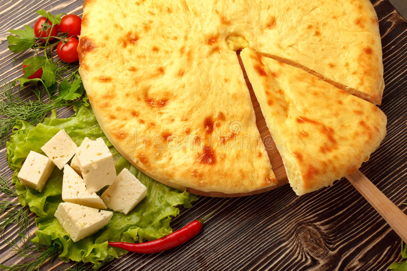 Download Ossetian Feta Cheese Pie stock photo. Image of cooked - 25862114