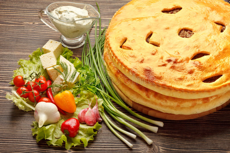 Download Ossetian pies. stock photo. Image of hot, cook, culture - 26509052