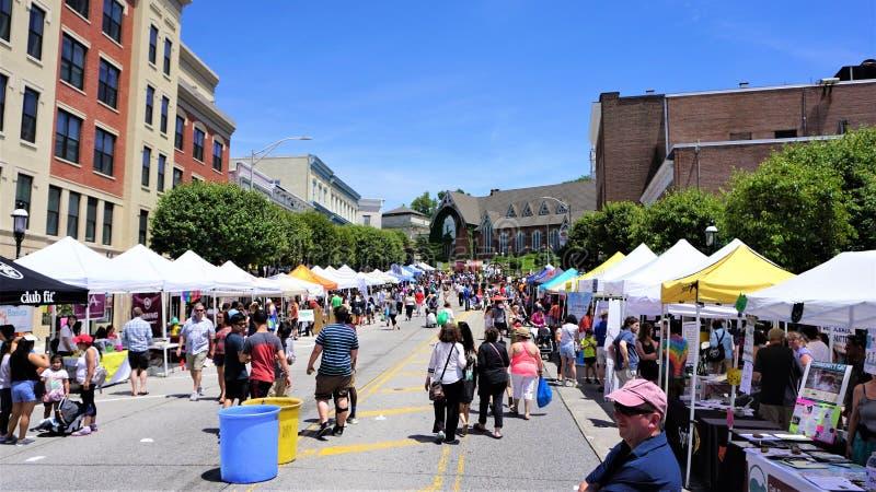 Summer street fair, Ossining New York stock photo