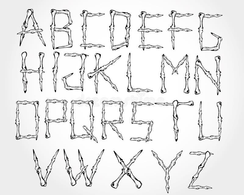 Osso alfabético ilustração royalty free