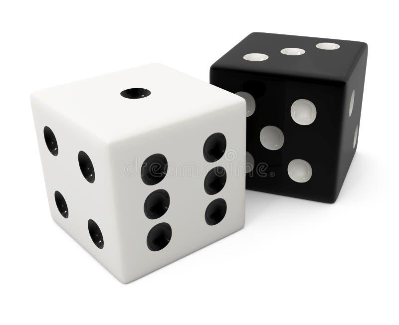 Osso bianco di conquista falso per il gioco dei dadi illustrazione vettoriale