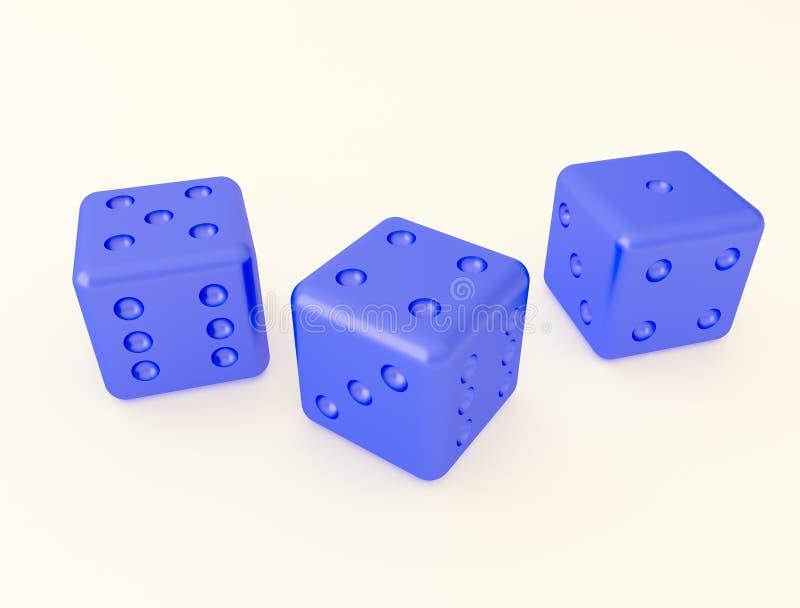 Osso per il gioco dei dadi illustrazione vettoriale