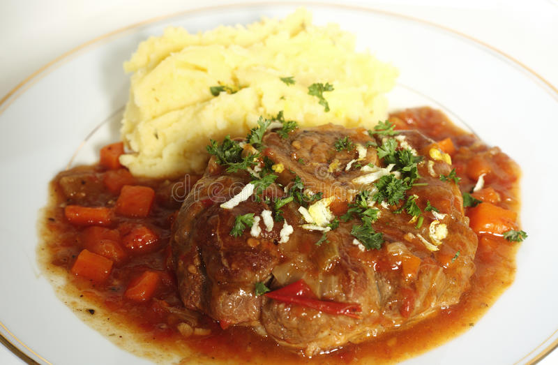 Download Ossobuco meal side view stock photo. Image of cuisine - 14297336