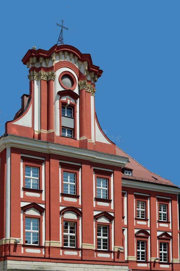 Ossolineum in Wroclaw - Polen royalty-vrije stock foto