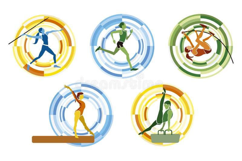 OSsportdiscipliner royaltyfri illustrationer