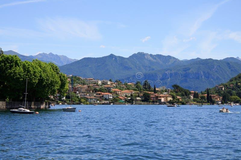 Ossuccio - See Como lizenzfreies stockbild