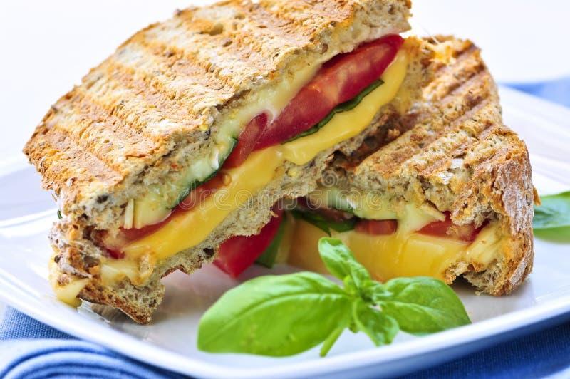 ost grillad smörgås royaltyfria bilder